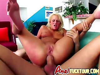 Tight butt stretched with monster cock