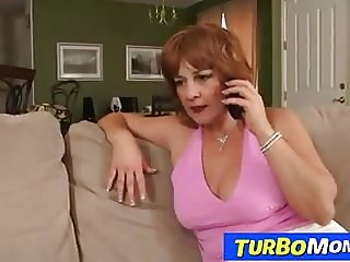 Old redhead whore Sarah enjoys a young dick
