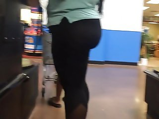 Cute Thick Ass BBW and Friend (Checkout Line)