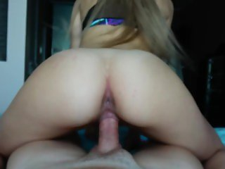 Teen Step Sister Rides her Step Brother