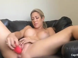 Capri Cavanni home movie solo with a toy