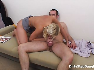 DirtyStepDaughter  Pretty Blonde Ass Fucked