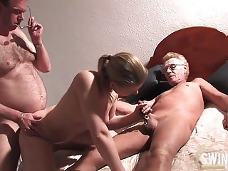 Threesome with ugly blonde