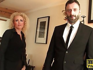 British realtor ass fucked by rough maledom