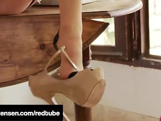 Penthouse Pet Jelena Jensen In A Foot Fetish Pantyhose Flick
