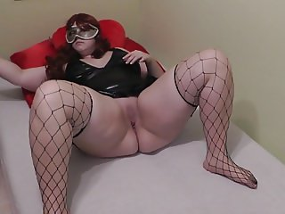 young german BBW Nina with dildo 1