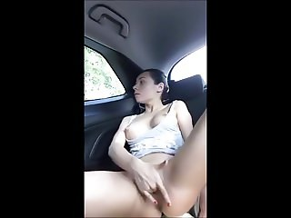 masturbating and cumming in the backseat of car