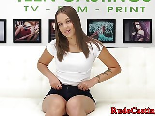 Lovely beauty roughfucked at casting