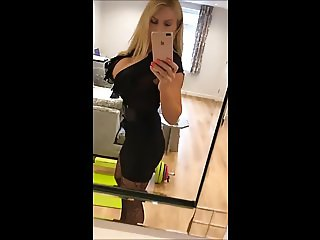 Blonde iPhone exhibitionist