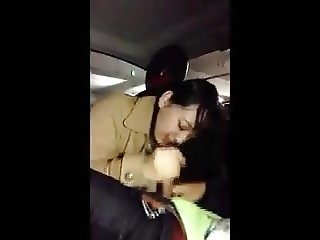 Japanese girls high school student blowjob in the car