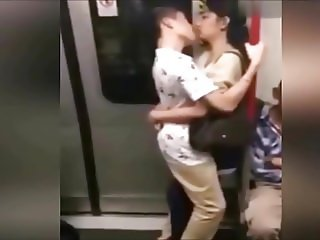 Shame! People in Chinese Metro do obscene things.