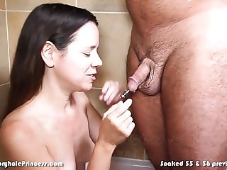 Piss soaked amateur housewife into golden showers