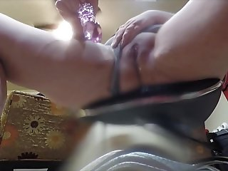 BBW Wife Squirting at Work