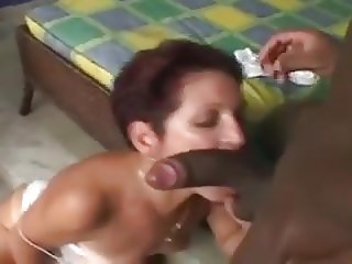 60 Yr. Old With Tan Lines Takes BBC In The Ass