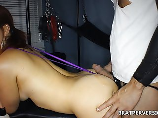 Ass Griding on her Male Sub's Hard Dick