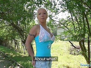 Public Agent Hot Blonde Wife Barbie Sins Fucks a Stranger