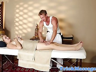Gorgeous massage babe fucked by her masseur