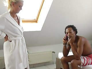 German Blonde With Young Black