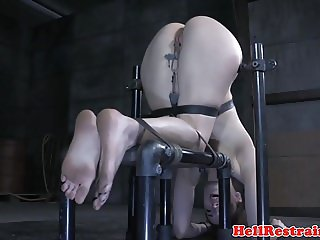 Bound bdsm sub in chains dominated by maledom
