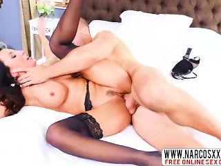 Painstaking Stepmom Lezley Zen In Stockings Lets Big Sex Stepmom