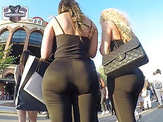 Candid ass amazing blondes
