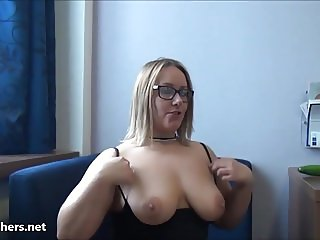 Exhibitionist milf Ashley Riders flashing outdoors in public