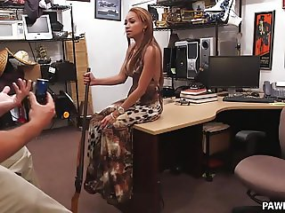 Crazy Latina Gets Fucked in the Pawn Shop - XXX Pawn