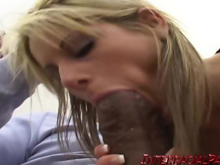 Young blonde Courtney Simpson goes for Big Black Cock