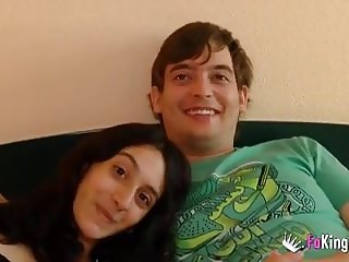 A new couple Lucy and Rober's debut in porn