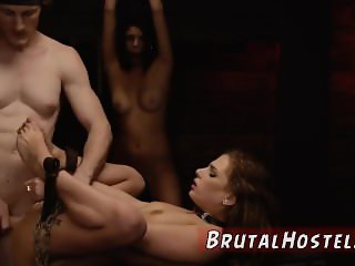 Chastity slave xxx sucks in mask Two young