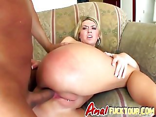 Naughty blonde bombshell with prime ass