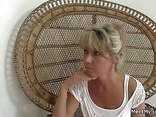Old dad and mom use son's girlfriend