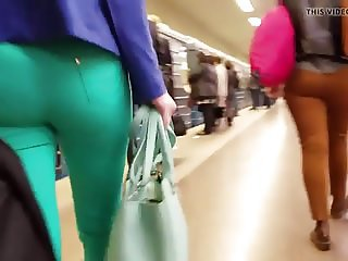 big russian ass in green pants