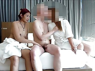 3 some with 2 asian girls