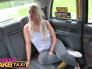 Female Fake Taxi Busty blonde in lesbian sexual anal play