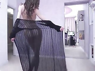 Teasing striptease dance