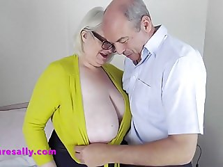 Sallys friend gets to feel her tits