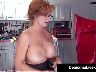 Texas Cougar Deauxma Pays Busty Mechanic Brooke Tyler w Sex!