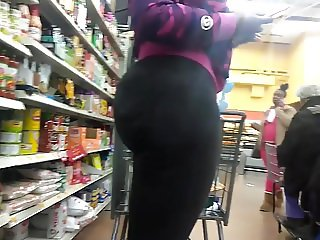Phat Ass Amazon in Tight Black Pants 2