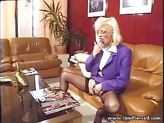 I am Pierced French mature with sexy pussy piercings