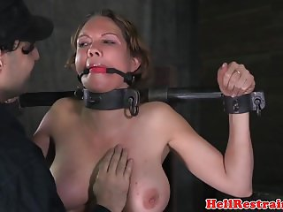 Tits bonded sub received corporal punishment