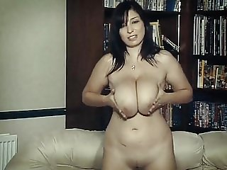 BETWEEN MY TITS - huge boobs British babe chats & teases JOI