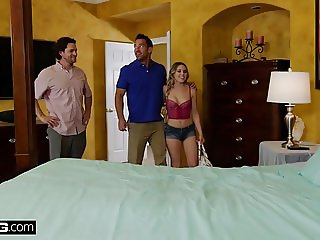 BANG Confessions - Aubrey test drives car dealers cock