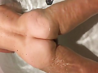 Bathroom pussy and ass