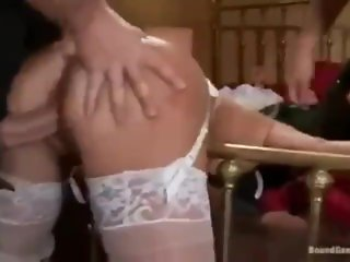 Wedding fuck - Bride gets used in front of groom.