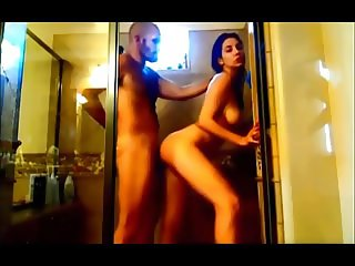 Amateur hot wife fuck in shower