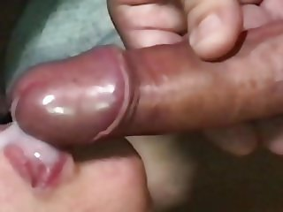 Close up Cum in Mouth from above