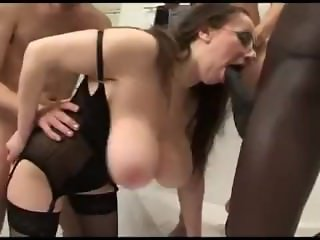 Wife  gangbang in the bath