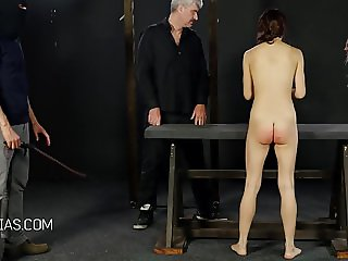 Girls take turns of getting their asses whipped