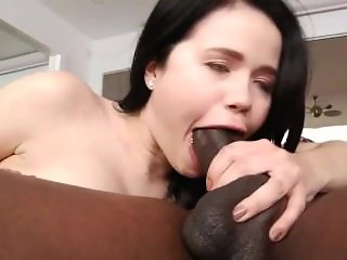 Brunette snipped off black in ass